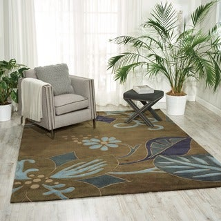 """Nourison Casual Hand-Tufted Contours Gray Rug (5' x 7'6"""")"""