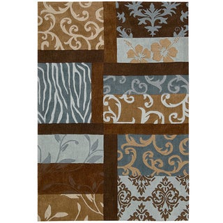"Nourison Hand-Tufted Contours Multicolor Polyester Rug (8' x 10'6"")"