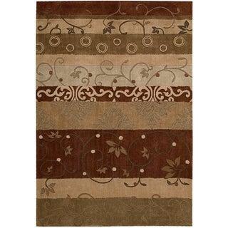 Nourison Hand-tufted Contours Multicolor Rug (5' x 7'6)