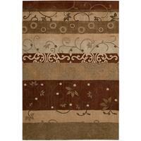 Nourison Hand-tufted Contours Multicolor Rug (5' x 7'6) - 5' x 7'6