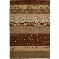 Contemporary Nourison Hand-Tufted Contours Multicolor Rug - 7'3 x 9'3