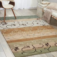 Nourison Contours Green Hand-tufted Area Rug - 8' x 10'6