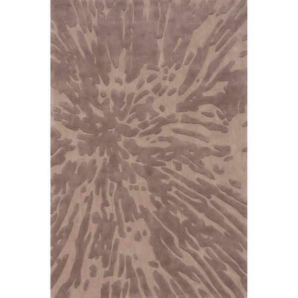 Splash Taupe Hand-Tufted Rug (8' x 10')