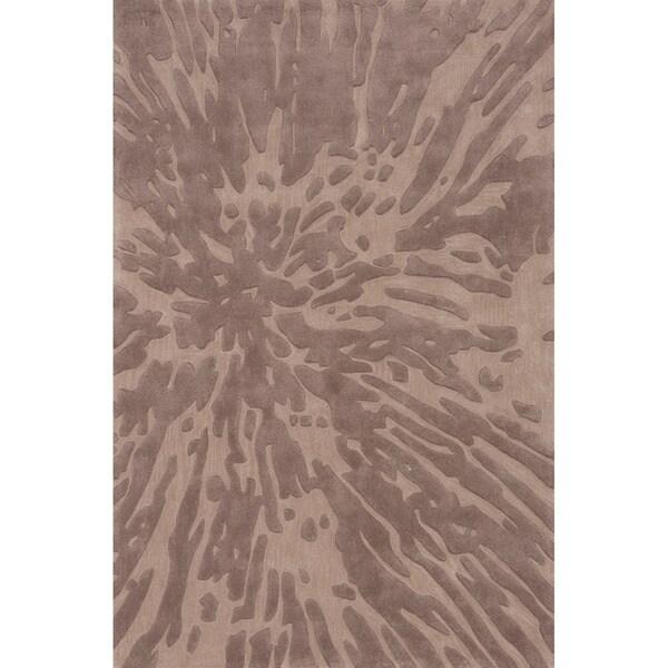 Hand-tufted Splash Taupe Rug (2' x 3')