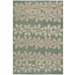 Nourison Hand-tufted Contours Floral Sage Rug (8' x 10'6)