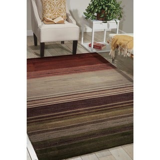 Nourison Hand-tufted Contours Forest Rug (7'3 x 9'3)