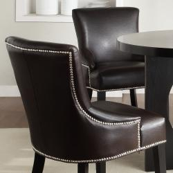 Thumbnail 3, Westmont 5-piece Brown Faux Leather 42-inch Round Dining Set. Changes active main hero.