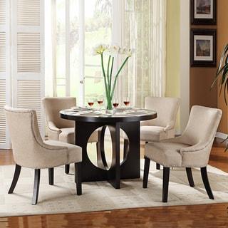 Westmont 5-piece Beige Linen 42-inch Dining Set