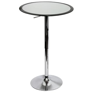 Ribbon Black Adjustable Hydraulic Bar Table