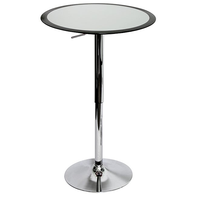 Ribbon Black Adjustable Hydraulic Bar Table