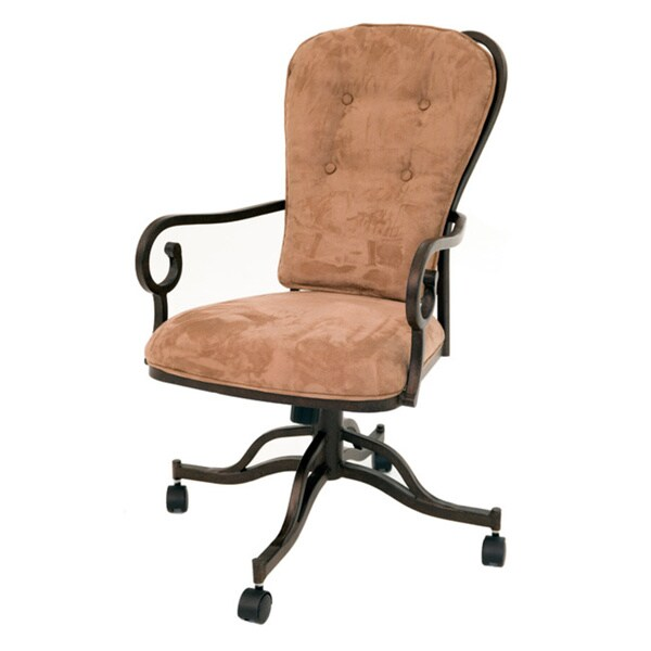 Magnolia Moccasin Suede Polyester Dining Caster Chair