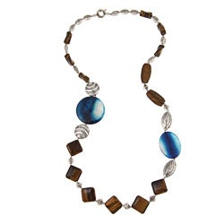 Pearlz Ocean Tiger's Eye and Agate Necklace