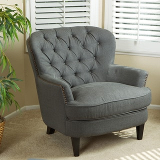 Tafton Tufted Oversized Fabric Club Chair by Christopher Knight Home