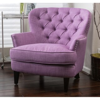 Tafton Tufted Oversized Fabric Club Chair by Christopher Knight Home (Option: Purple)