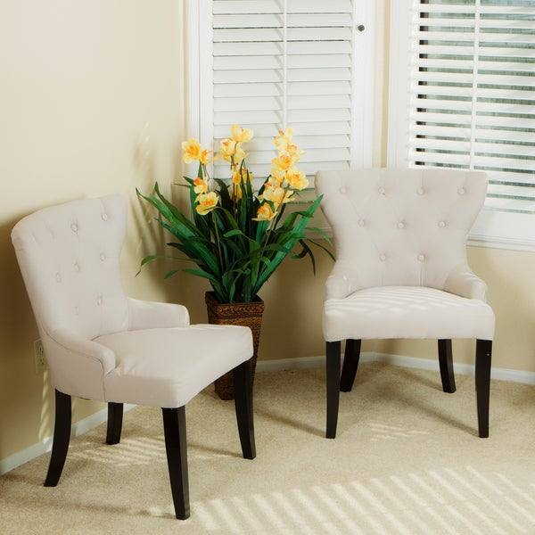 Curved Back Tufted Chairs (Set of 2)