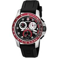 Wenger Men's 'Battalion' Red Bezel Chronograph Watch