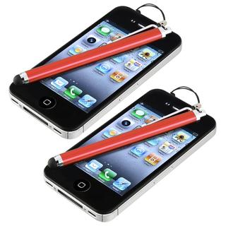 INSTEN Red Touch Screen Stylus for Apple iPhone/ iPod/ iPad (Pack of 2)
