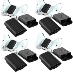 INSTEN Black Wireless Controller Battery Shell for Microsoft xBox 360 (Pack of 4)