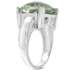 Sheila Kay Platinum Overlay Green Amethyst Ring - Thumbnail 1
