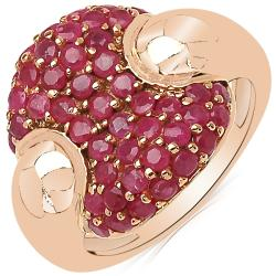 Sheila Kay 14k Rose Gold Overlay Ruby Cluster Ring