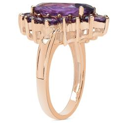 Sheila Kay 14k Rose Gold Overlay Amethyst Ring - Thumbnail 1