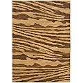 """LR Home Opulence Cream/ Brown Abstract Rug - 9'2"""" x 12'5"""""""
