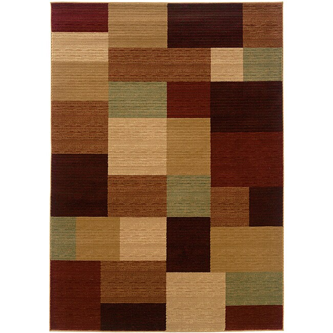 LNR Home Opulence Multi-color Geometric Area Rug (9'2 x 12'5)