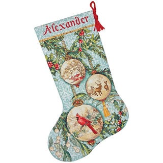 Gold Collection Enchanted Ornament Stocking Counted Cross Stitch