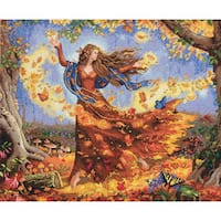 Gold Collection Fall Fairy Counted Cross Stitch Kit