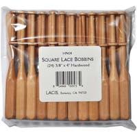Lacis 24-piece Square Lace Hardwood Bobbins