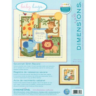 Baby Hugs Savannah Birth Record Counted Cross Stitch Kit