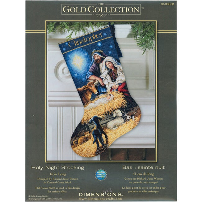 DIMENSIONS Gold Collection 'Holy Night (Black)' Stocking ...