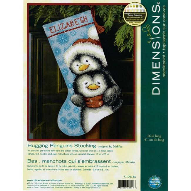 DIMENSIONS Hugging Penguins Stocking Needlepoint Kit (Hug...