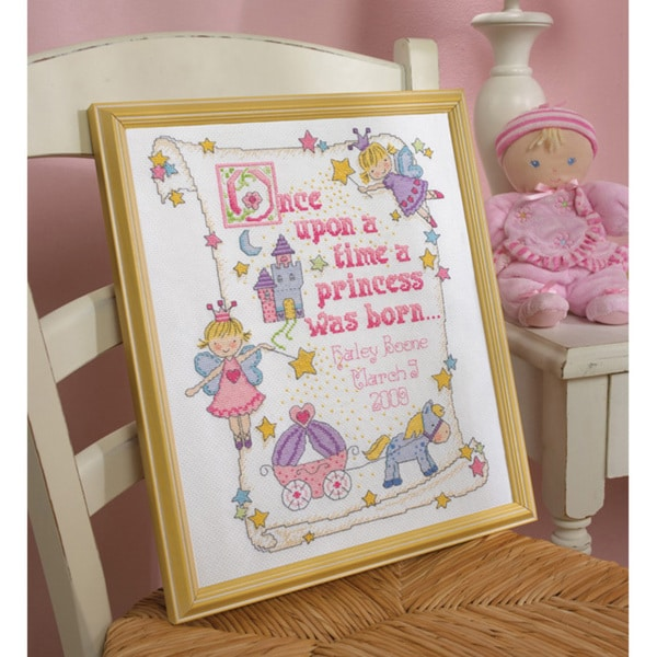 Shop Princess Birth Record Counted Cross Stitch Kit Free