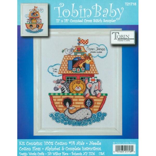 Noah's Ark Birth Record Counted Cross Stitch Kit