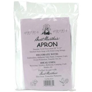 White Twill Apron