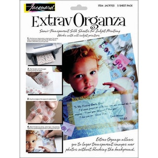 Extrav Organza Silk Sheets (Pack of 5)