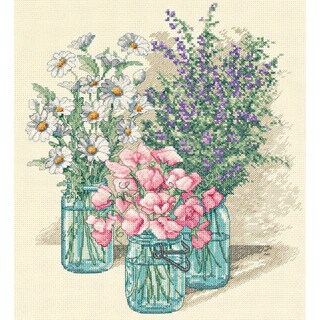 Wildflower Trio Counted Cross Stitch Kit