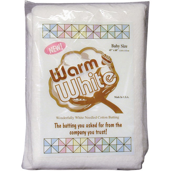 The Warm Company Warm & White Crib Size Cotton Batting (C...