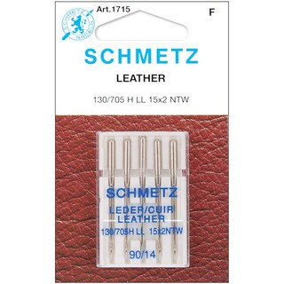 Schmetz Silvertone Sewing-machine Leather Needles (Set of Five)
