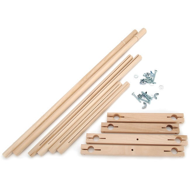 Edmund Split Rail Scroll Frame Set (Scroll Frame) (Wood)