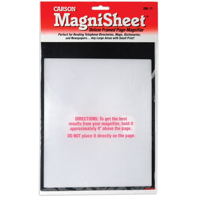 """Carson MagniSheet Deluxe Framed Page Magnifier (10-3/4""""X8..."""
