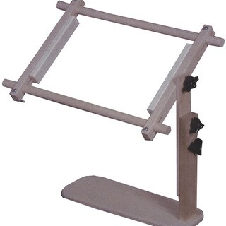 Edmunds Grey Wood Adjustable Sit-on Needlework Frame