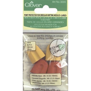 Clover Point Protectors for Circular Knitting Needles (Pack of 4)