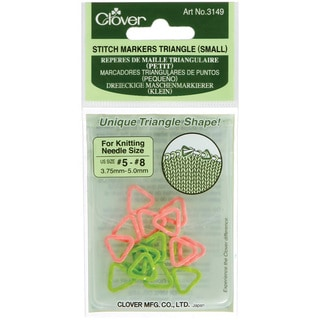 Clover Small Triangle Stitch Markers (Pack of 16)