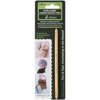 Clover Double Ended Tunisian Crochet Hook J
