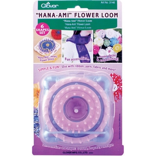 Clover Hana-Ami Flower Loom Set with Six Shapes and Tapestry Needle