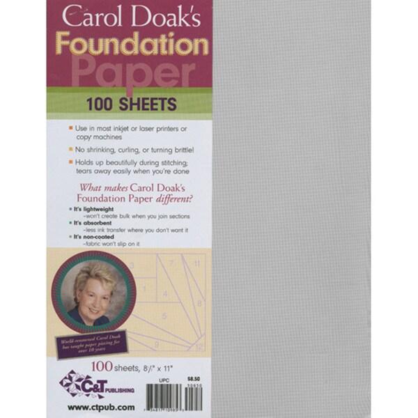 Carol Doak's Foundation Paper (Pack of 100)