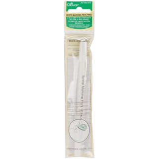 Clover Water Soluble Fine Point White Marking Pen