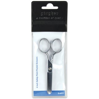 Gingher Double-pleated Chrome over Nickel Four-inch Pocket Scissors